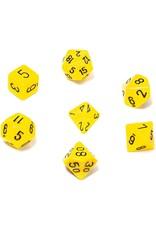 Chessex Chessex Opaque (7pc Set) Yellow/Black