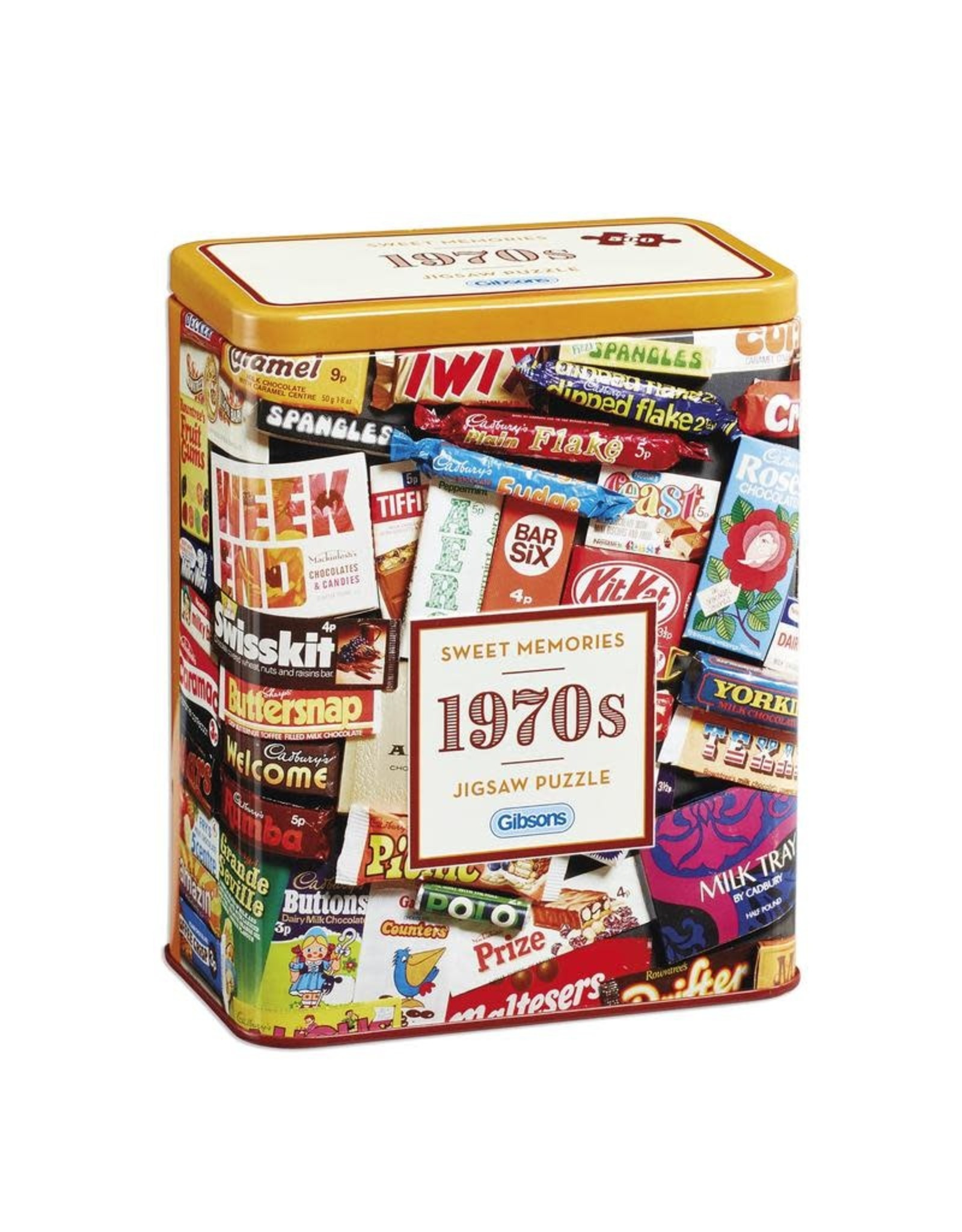 Gibsons Gibsons 1970s Sweet Memories Gift Tin 500 pieces
