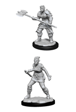 Wizards of the Coast Dungeons and Dragons Unpainted Minis Wave 13 - Orc Barbarian Female
