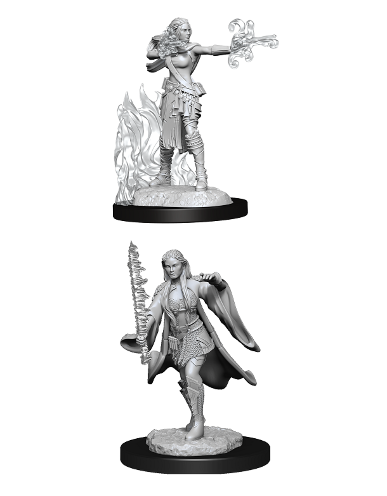 Wizards of the Coast Dungeons and Dragons Unpainted Minis Wave 13 - Warlock/Sorcerer Female