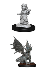 Wizards of the Coast Dungeons and Dragons Unpainted Minis Wave 13 - Silver Dragon Wyrmling