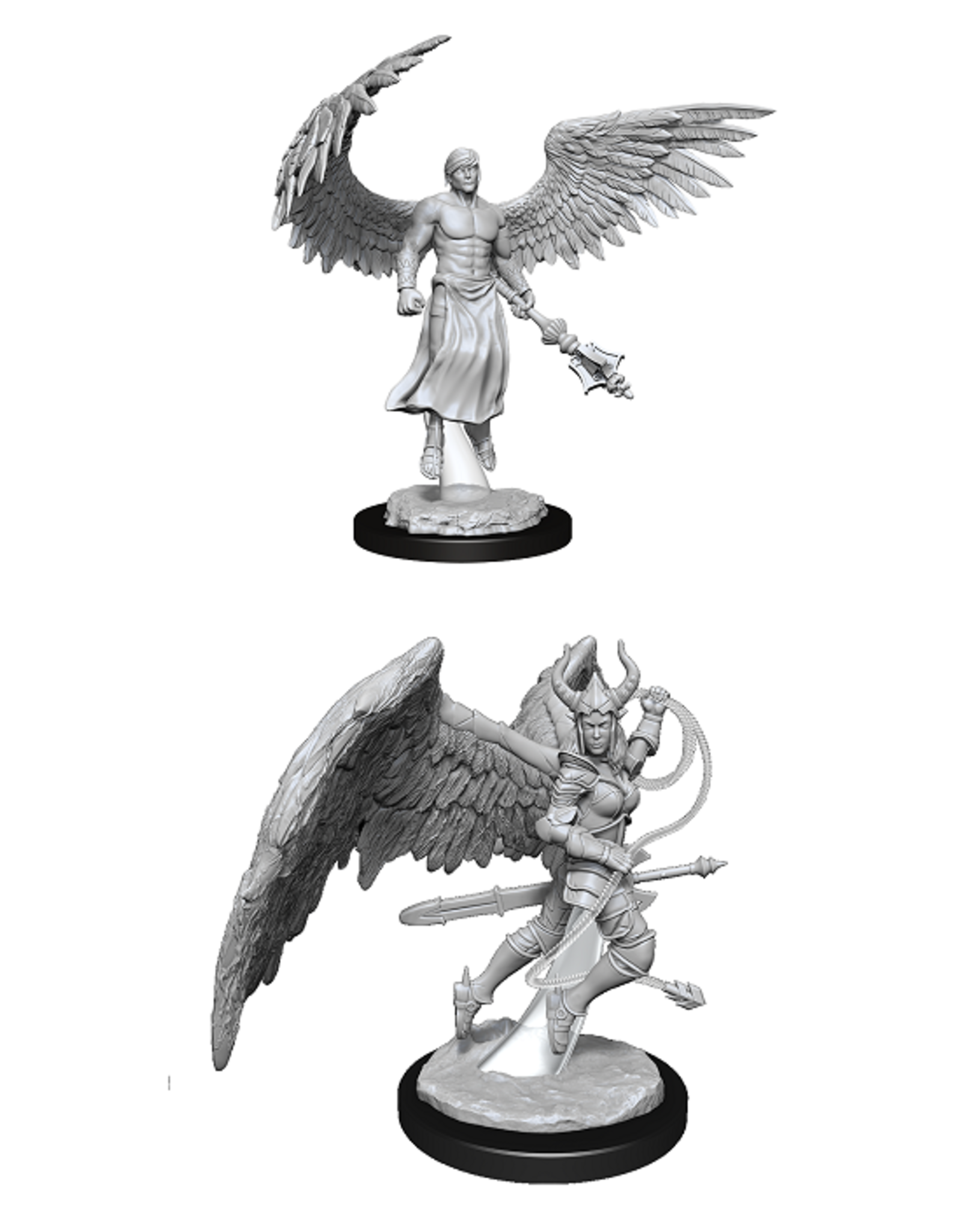 Wizards of the Coast Dungeons and Dragons Unpainted Minis Wave 13 - Deva and Erinyes