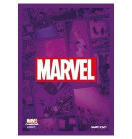 GameGenic Marvel Champions Sleeves - Purple Logo