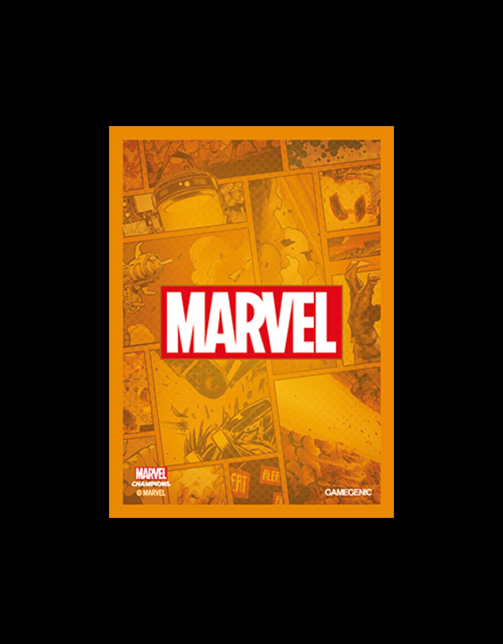 GameGenic Marvel Champions Sleeves - Orange Logo
