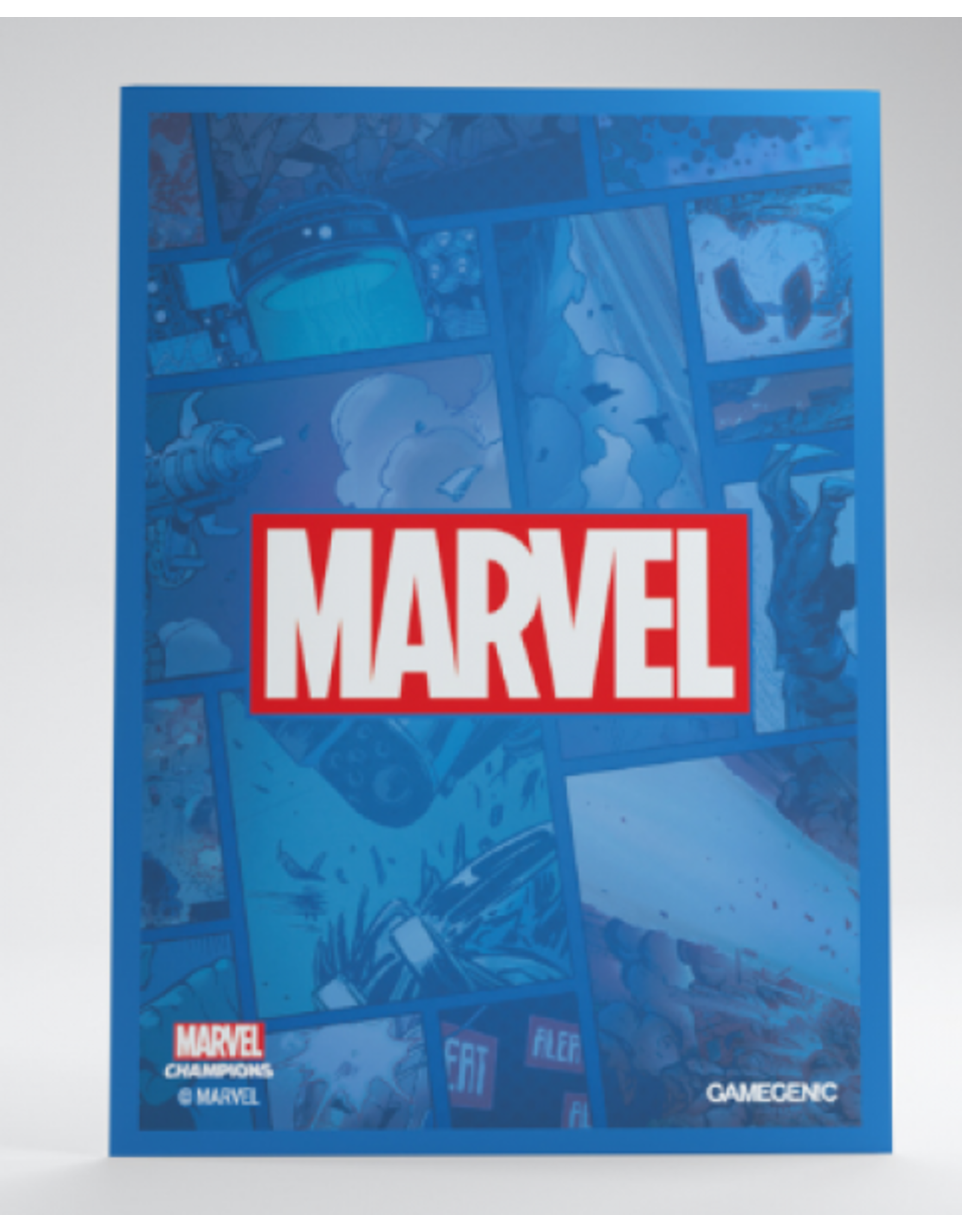 GameGenic Marvel Champions Sleeves - Blue Logo