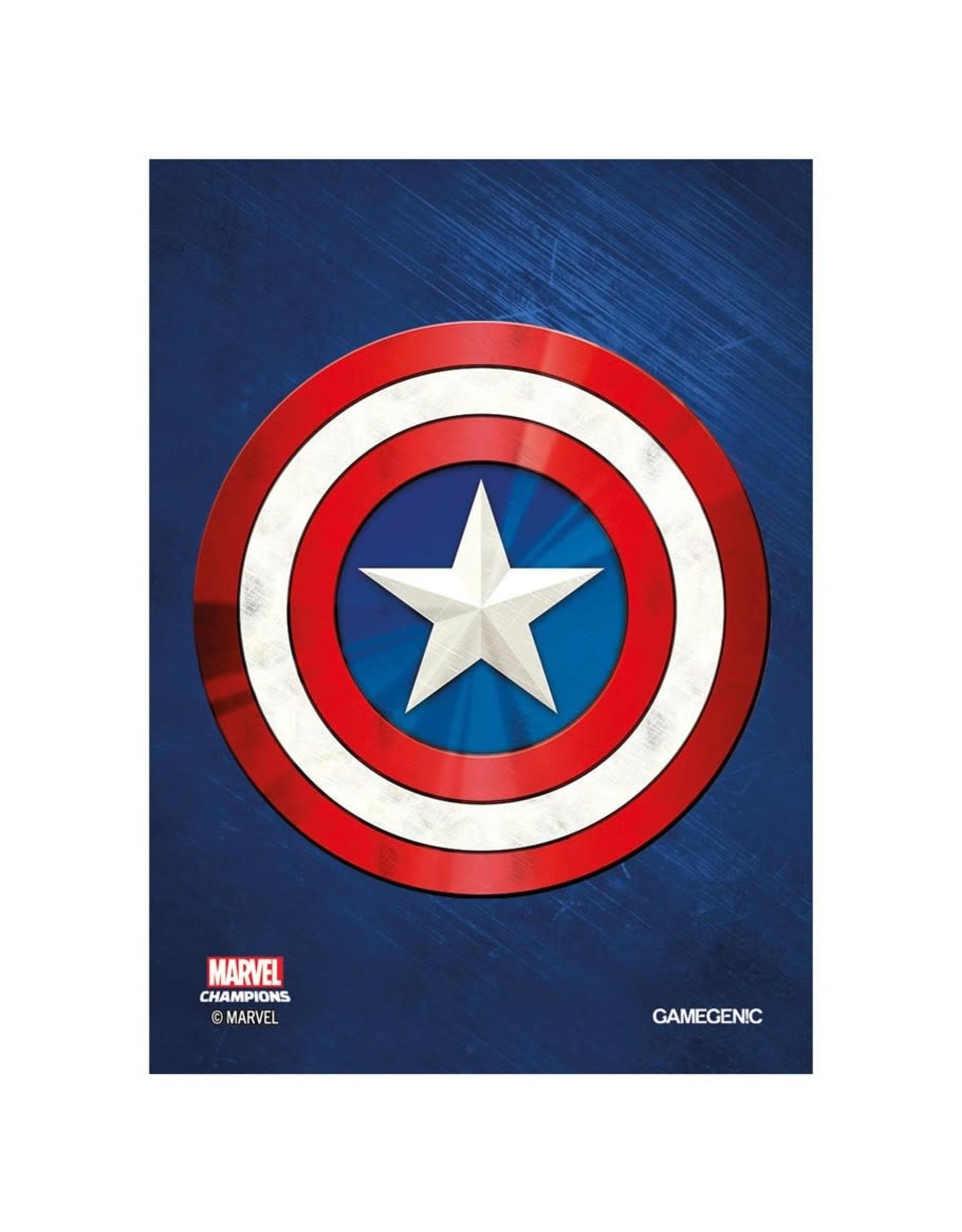 GameGenic Marvel Champions Sleeves - Captain America