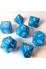 Chessex Chessex Opaque (7pc Set) Light Blue White