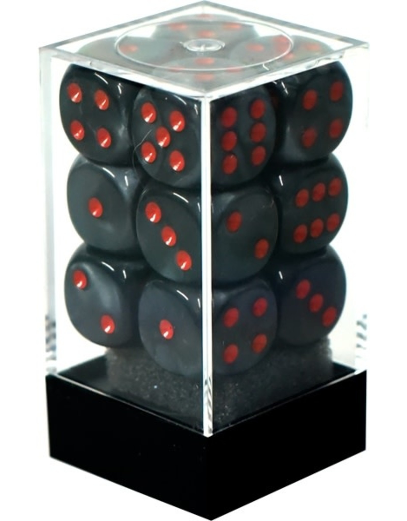Chessex Chessex Velvet: 12D6 Black/Red