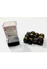 Chessex Chessex Leaf 12D6 Black Gold/Silver
