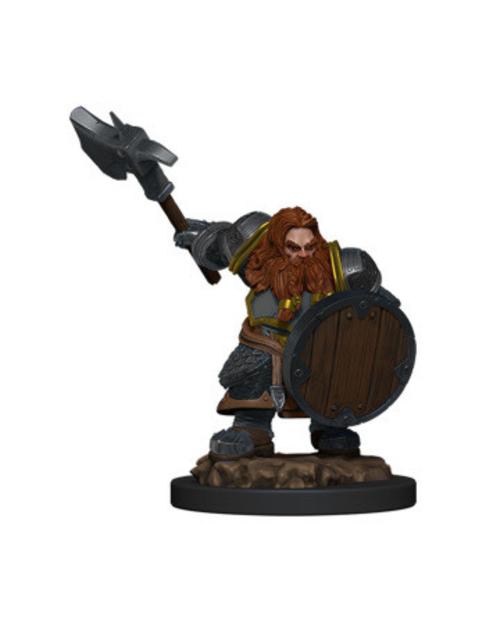 WizKids icons of the Realm Dwarf Fighter Male Prem Fig