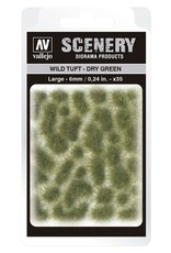 Vallejo Vallejo: Scenery  - Wild Tuft - Dry Green Large 6mm