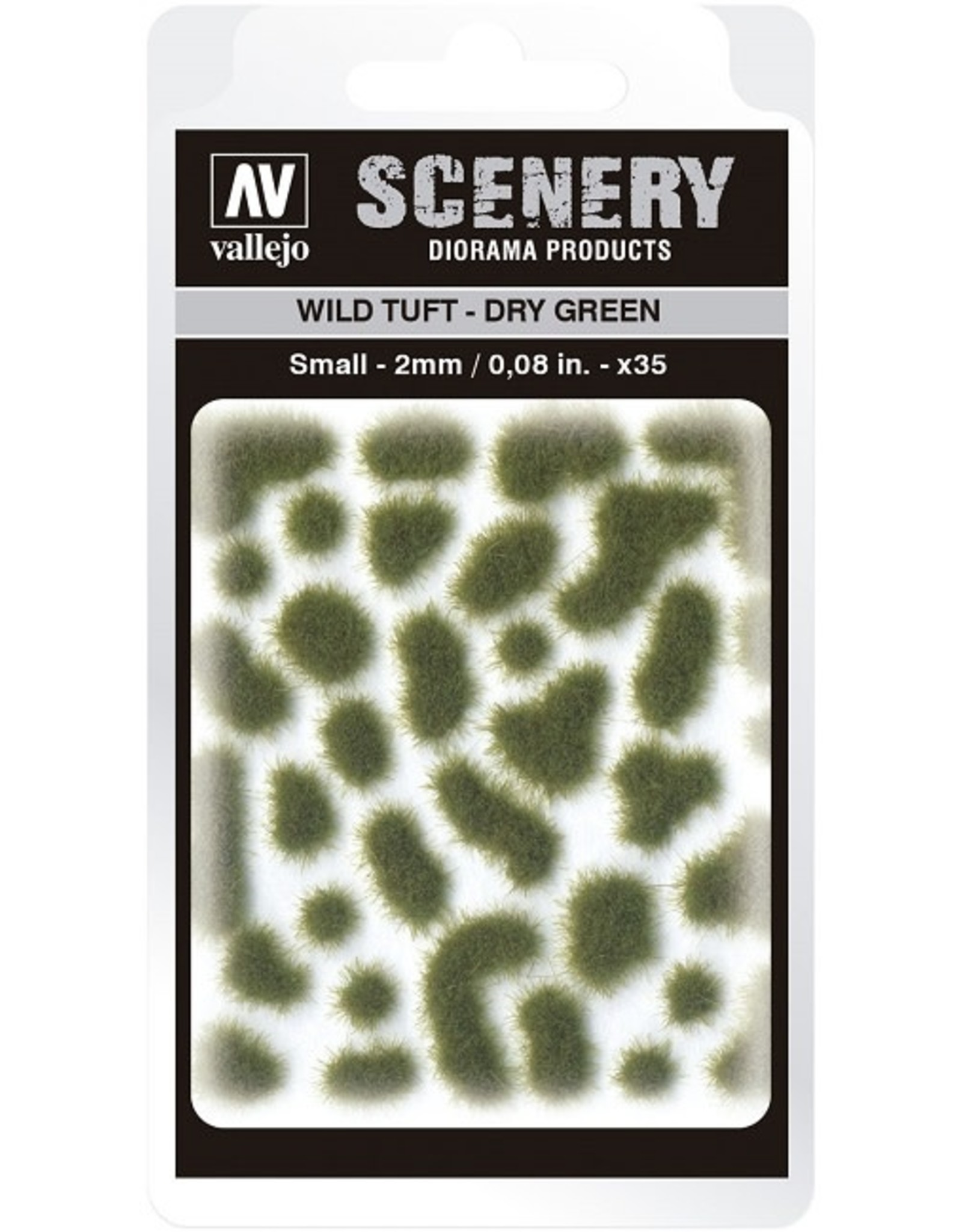 Vallejo Vallejo: Scenery - Wild Tuft - Dry Green Small 2mm