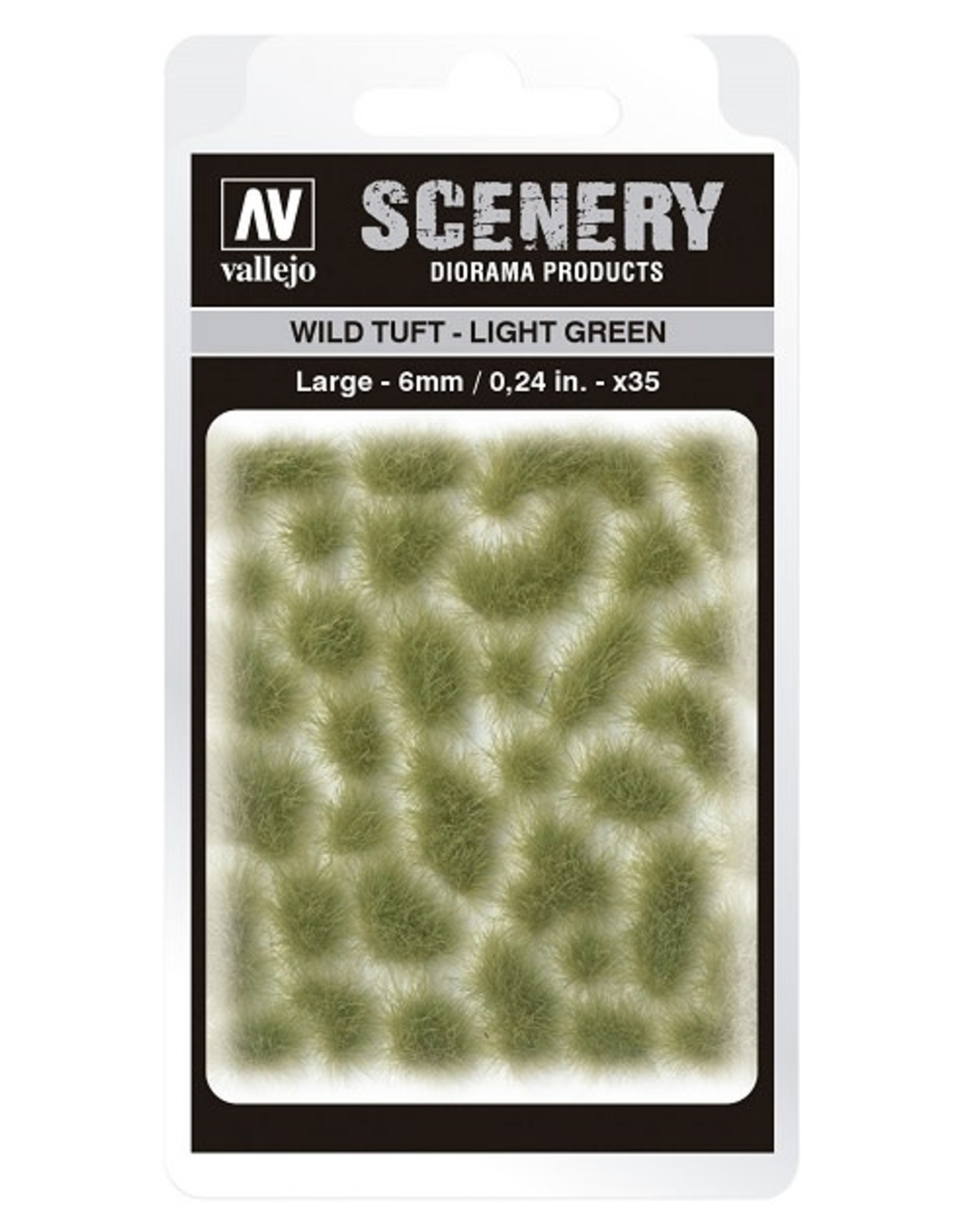 Vallejo Vallejo: Scenery -  Wild Tuft - Light Green Large 6mm