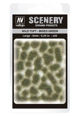 Vallejo Vallejo: Scenery -  Wild Tuft - Mixed Green Large 6mm