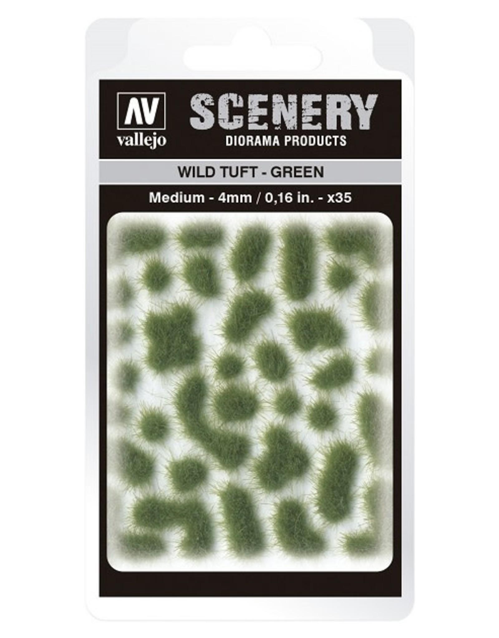 Vallejo Vallejo: Scenery - Wild Tuft - Green Medium 4mm