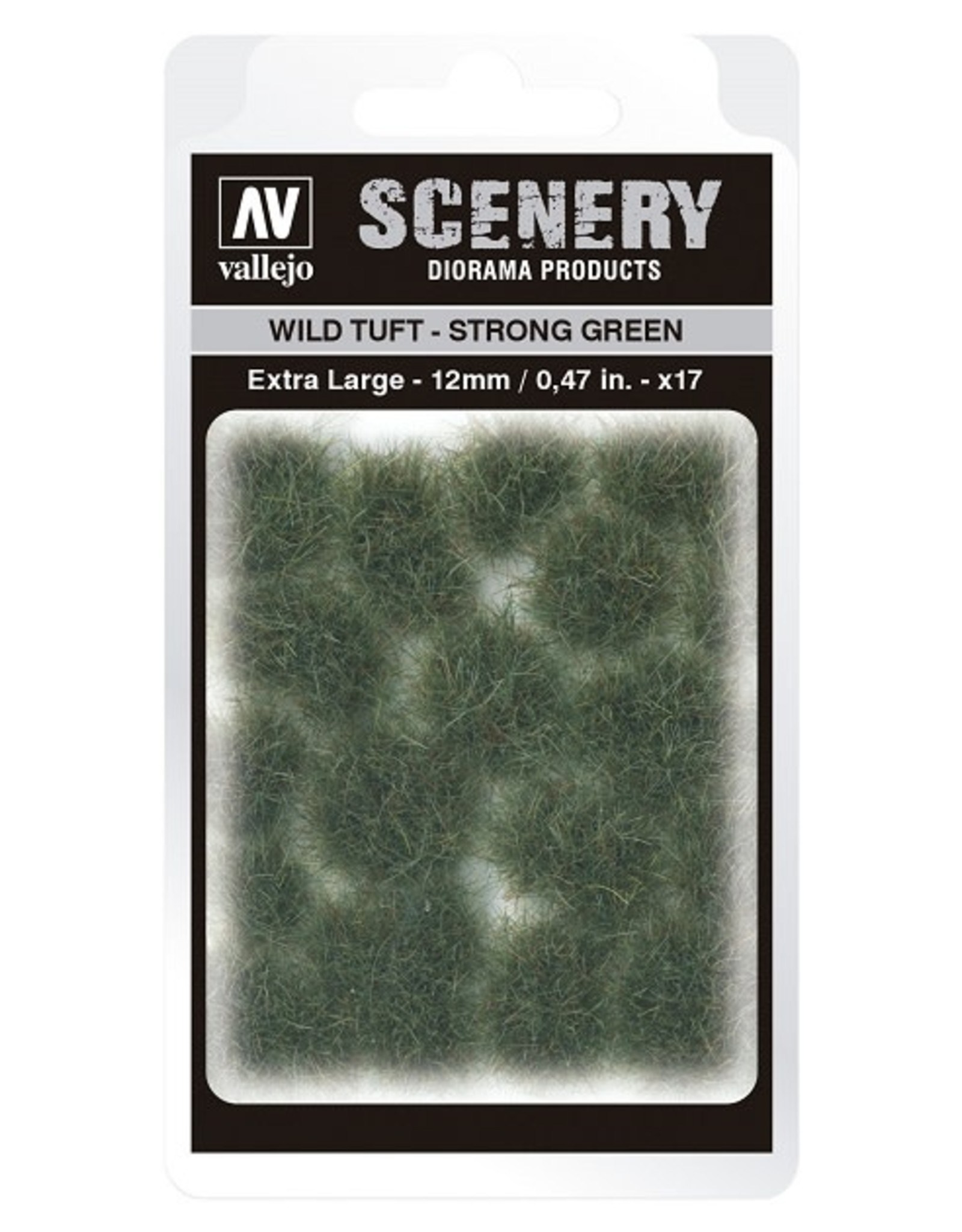 Vallejo Vallejo: Scenery -  Wild Tuft - Strong Green Extra Large 12mm