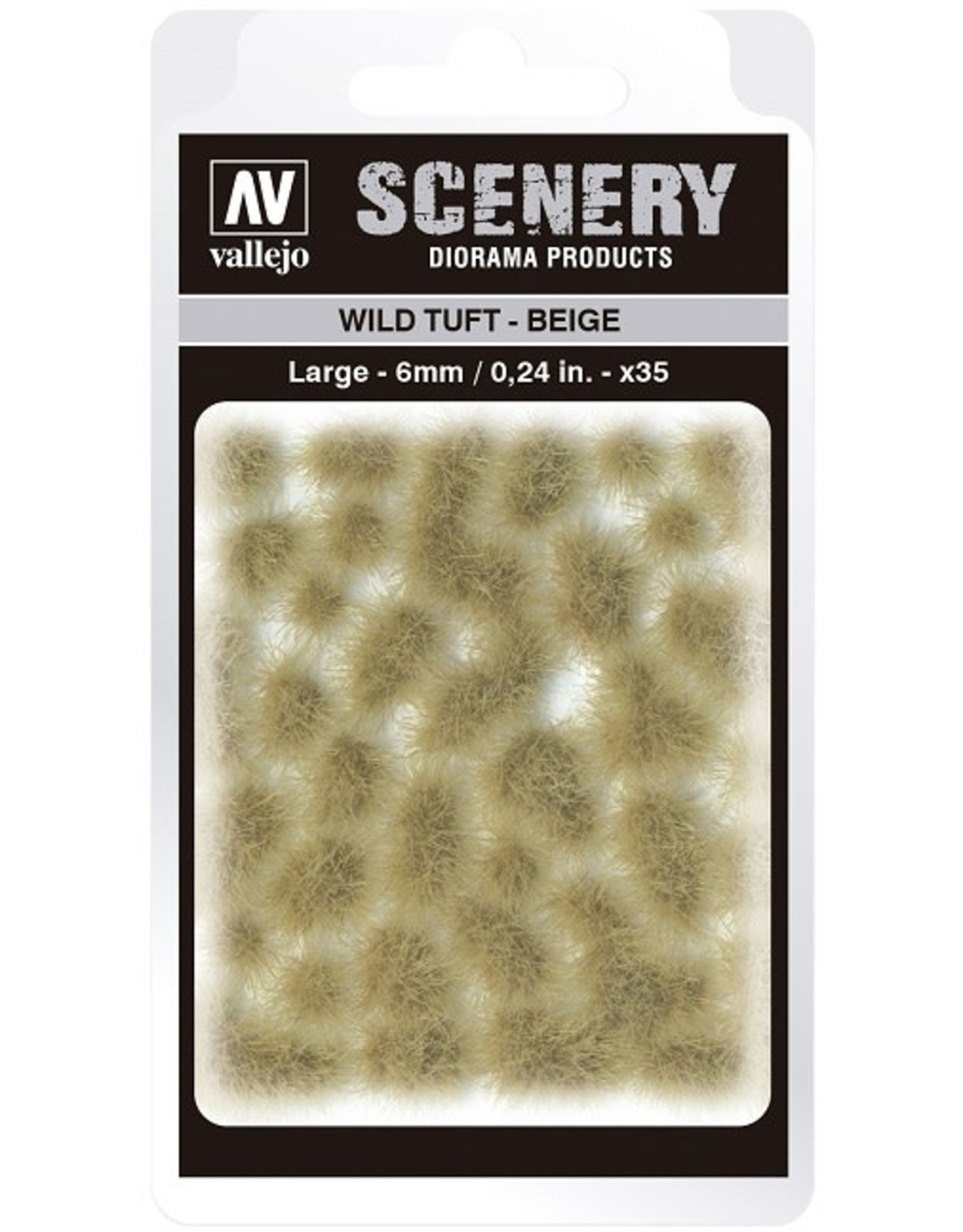Vallejo Vallejo: Scenery -Wild Tuft - Beige Large 6mm