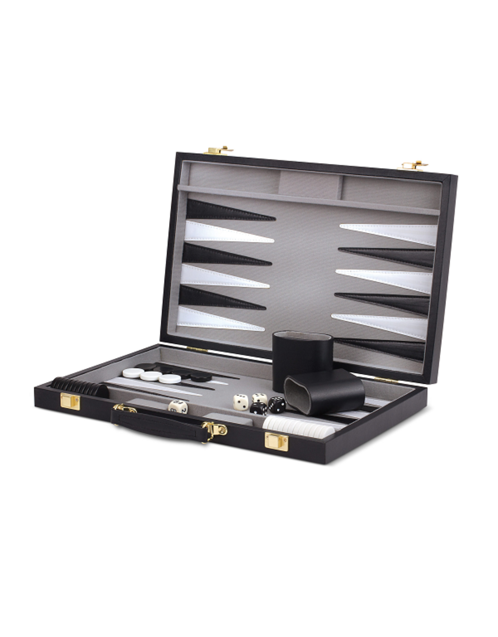 "15"" Backgammon Black and Grey Vinyl"