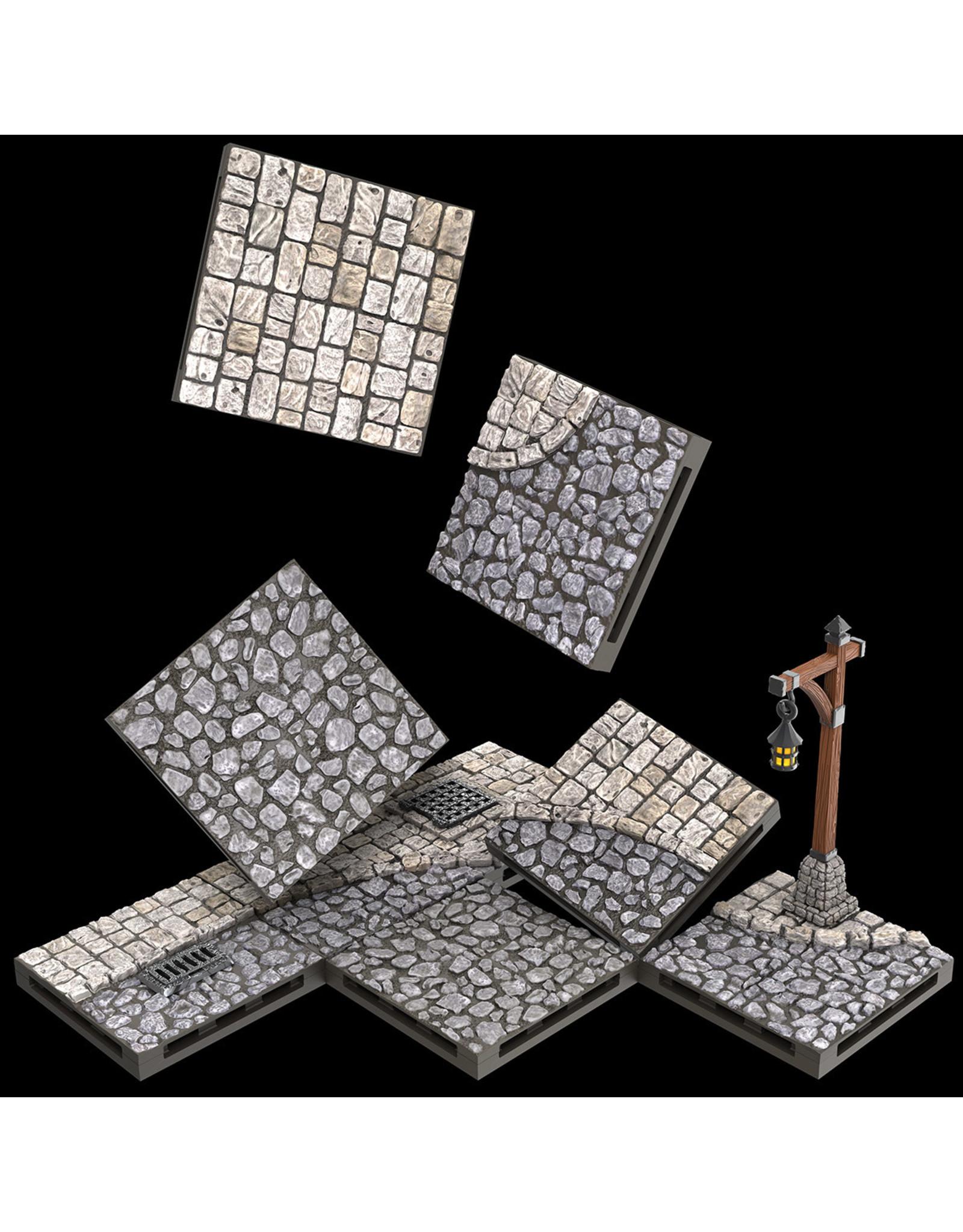 WizKids Warlock Dungeon Tiles: Town/Village-Town Square