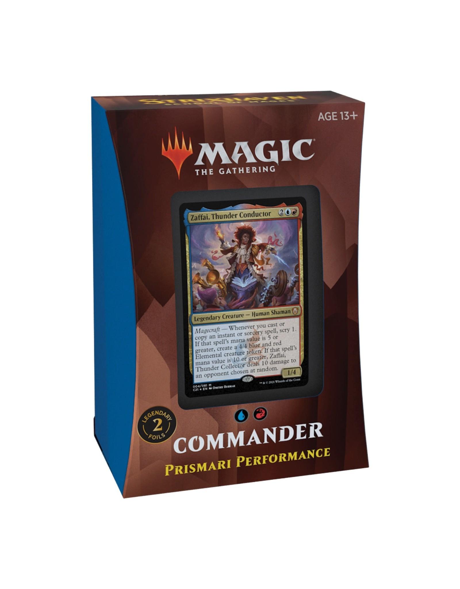 Wizards of the Coast Strixhaven Commander - Prismari Performance (U/R)