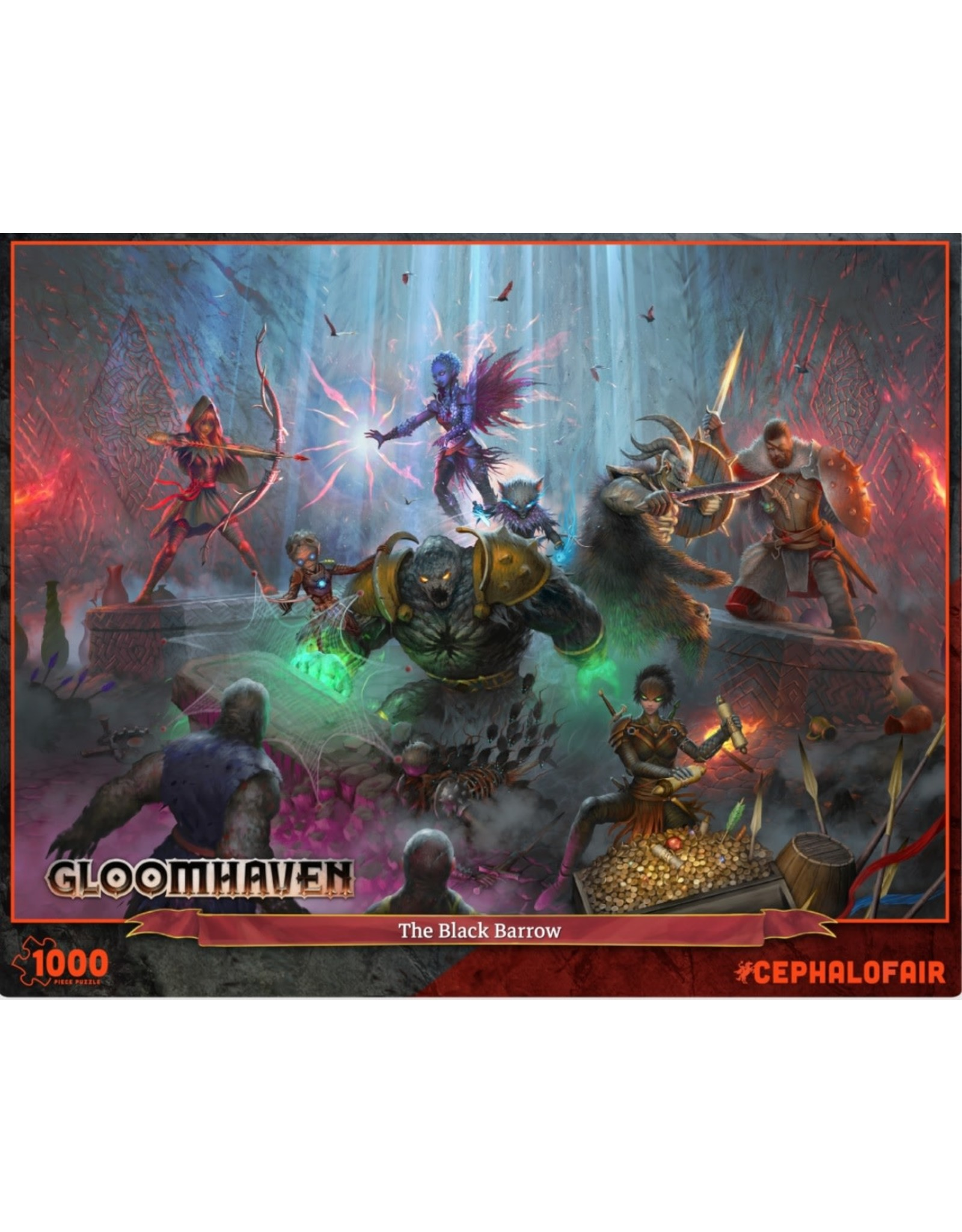 Cephalofair Gloomhaven Puzzle: The Black Barrow 1000PC
