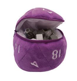 Ultra Pro Dice Bag Purple D20 Plush