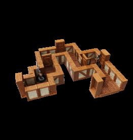"WizKids Warlock Tiles: 1"" Town and Village Straight Walls Expansion"