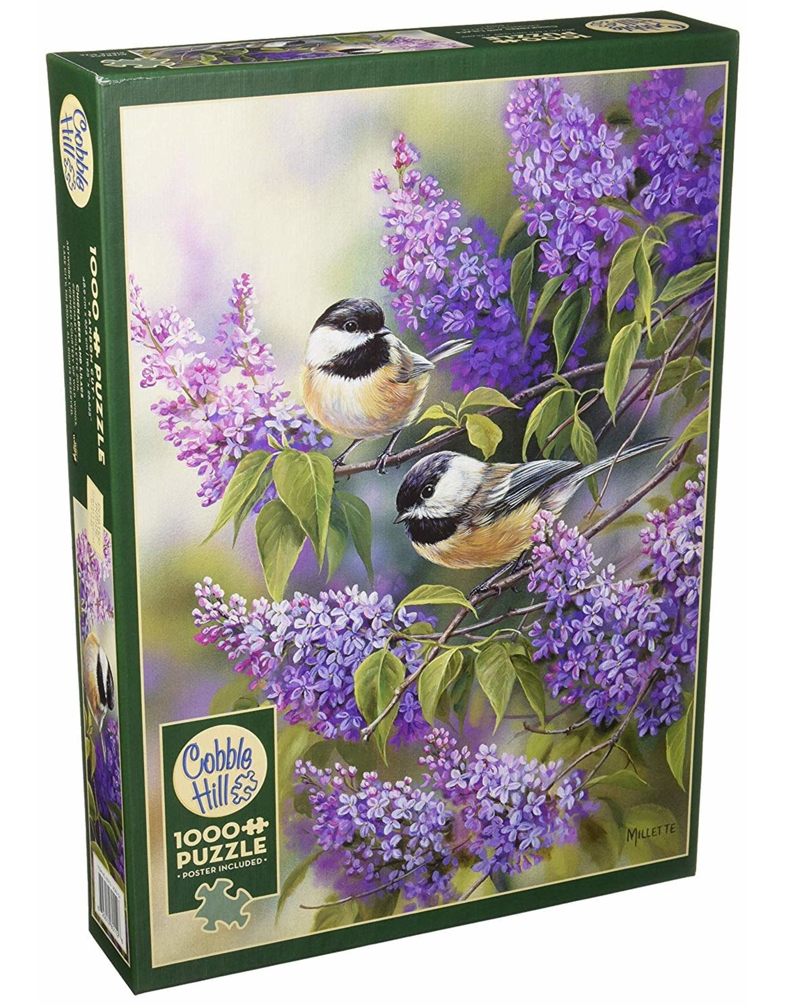 Cobble Hill Chickadees and Lilacs 1000 PC