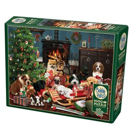 Cobble Hill Christmas Puppies 1000 PC