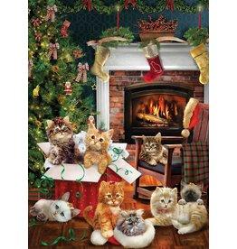 Cobble Hill Christmas Kittens 1000 PC