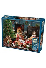 Cobble Hill Christmas Puppies  500 PC