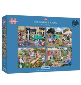 Gibsons The Florist's Round (4 Puzzles) 500 Pc
