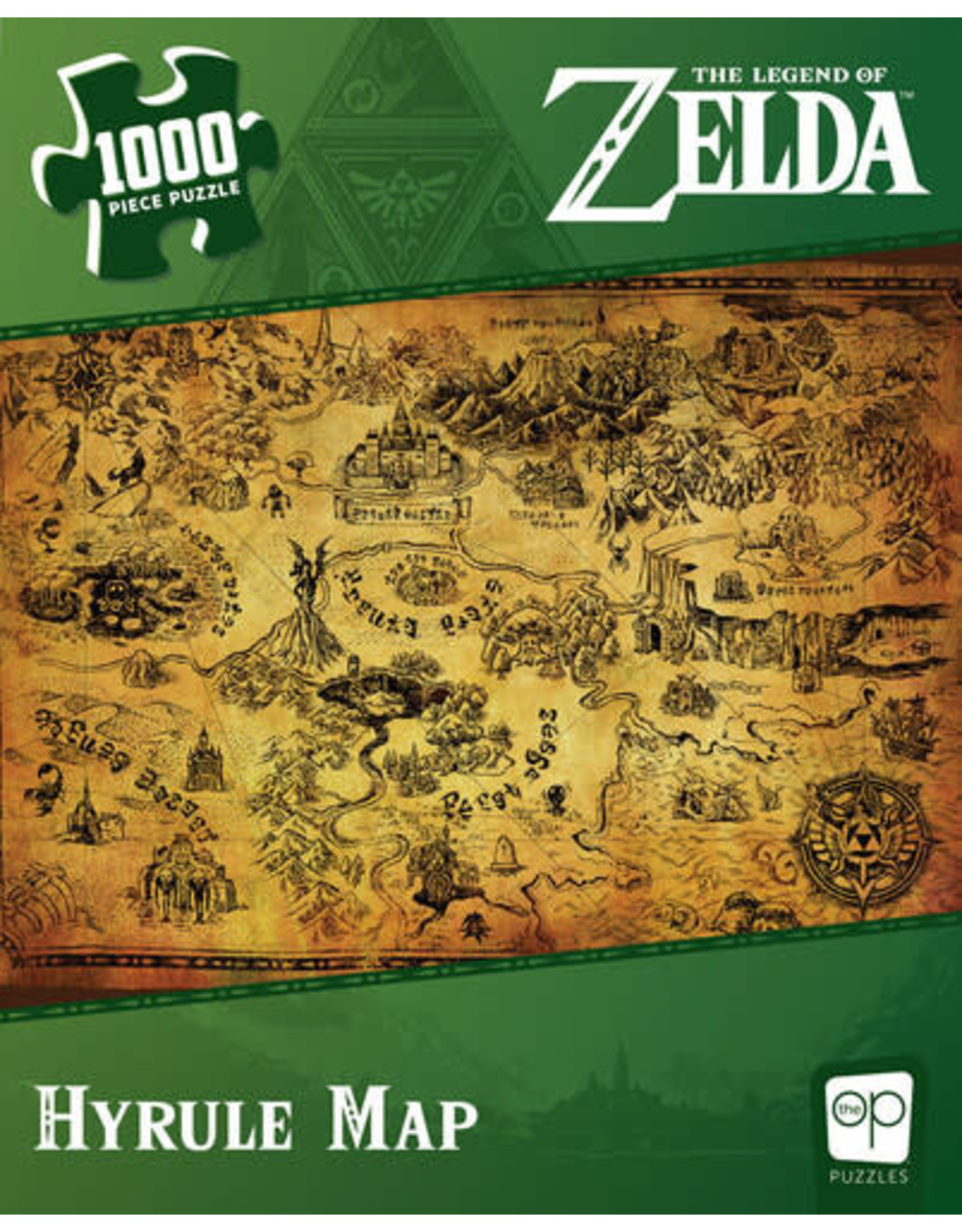 USAopoly Zelda Hyrule Map Puzzle 1000 Pc