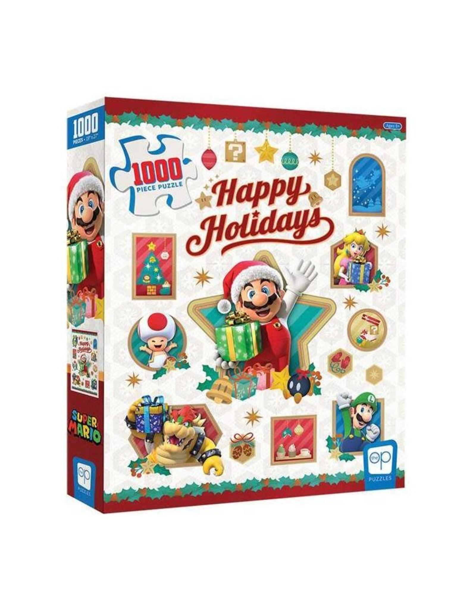 "USAopoly Super Mario ""Happy Holidays"" Puzzle 1000 Pc"