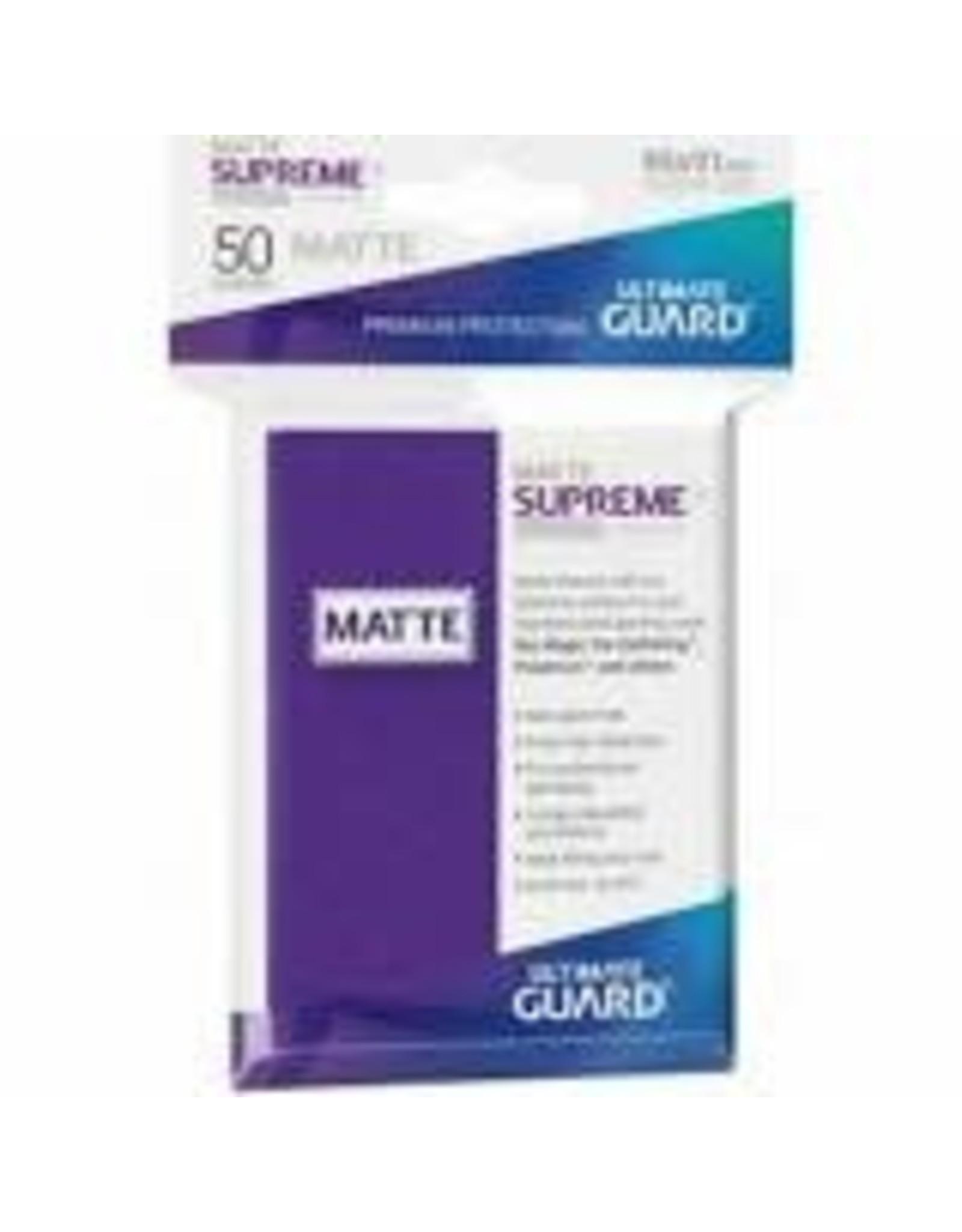 Ultimate Guard UG Sleeves Supreme Matte UX (50 CT) -