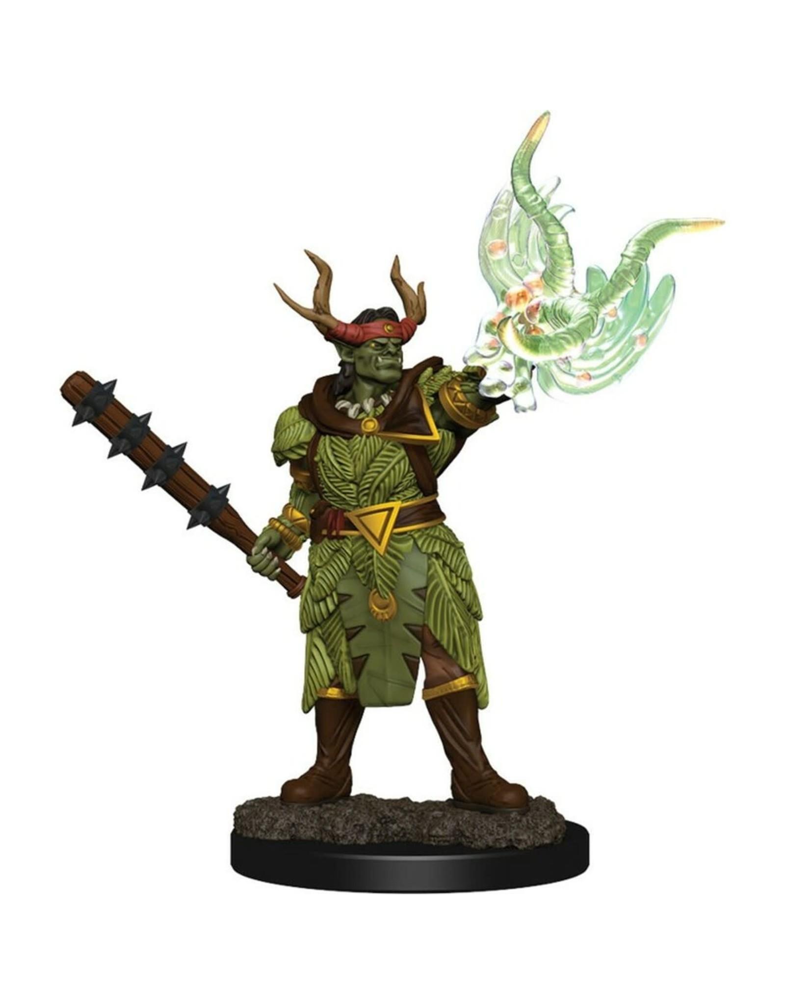 WizKids Premium Painted Male Half-Orc Druid - Wave 2