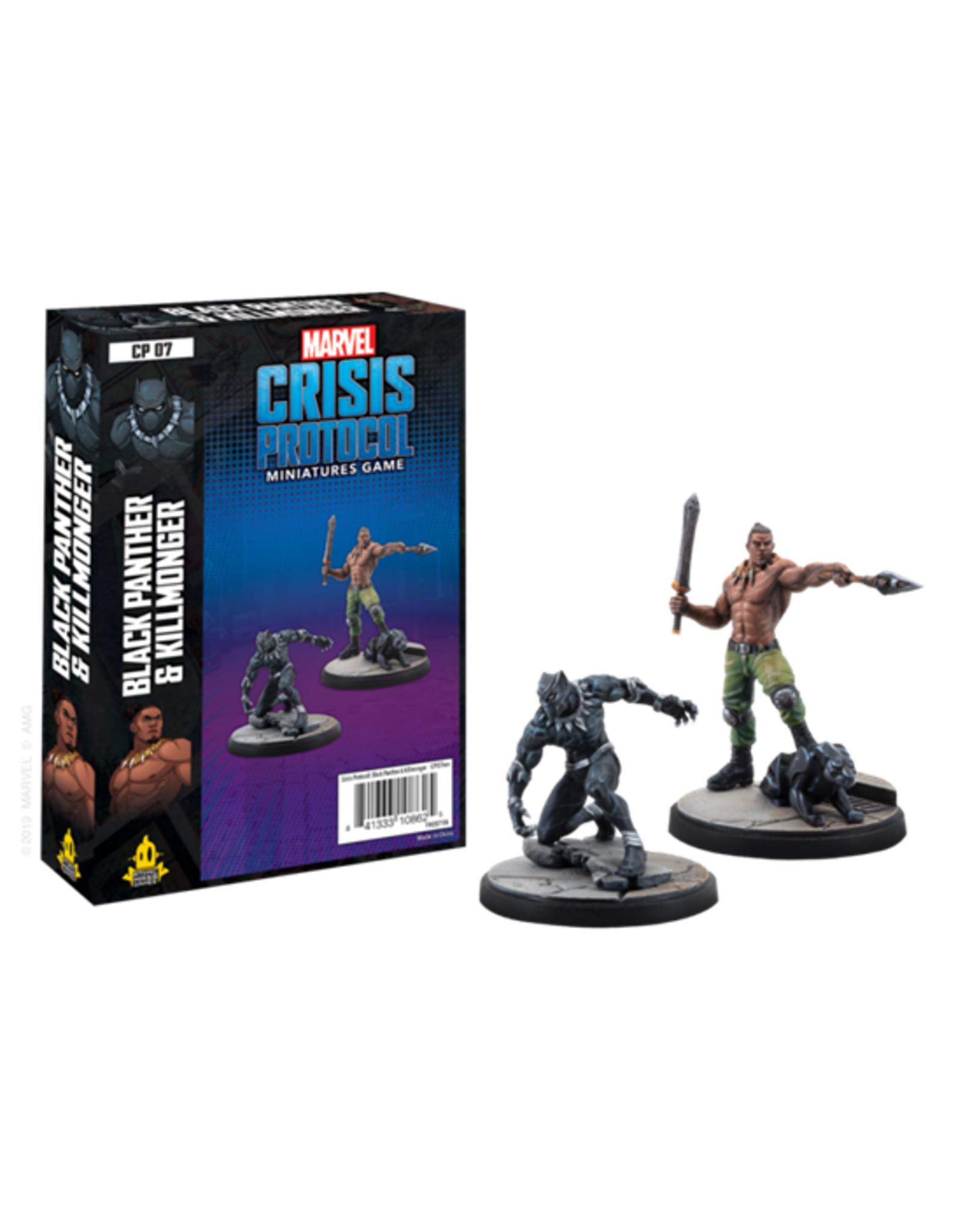 Atomic Mass Games Marvel Crisis Protocol: Black Panther And Killmonger Character Pack