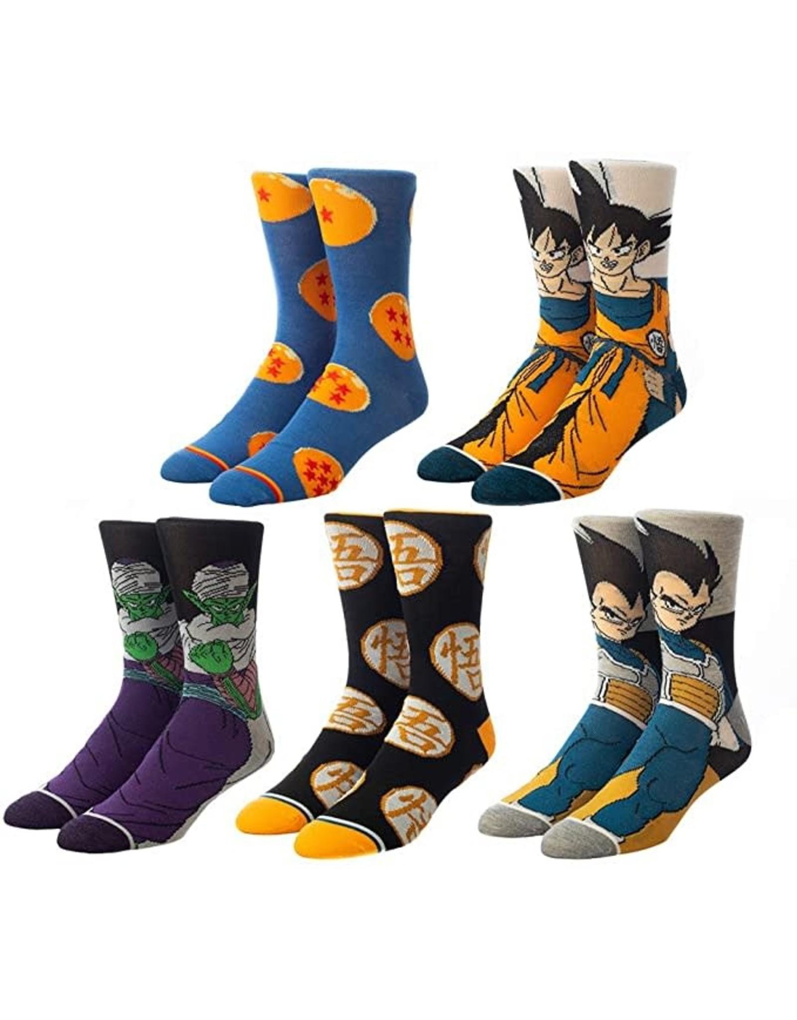 Bioworld Dragon Ball 5 Pack Mens Crew Socks