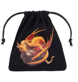 Q Workshop Dice Bag - Dragon (Black and Adorable)