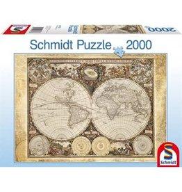 Schmidt Schmidt Puzzle: Historical World Map  2000 Pieces