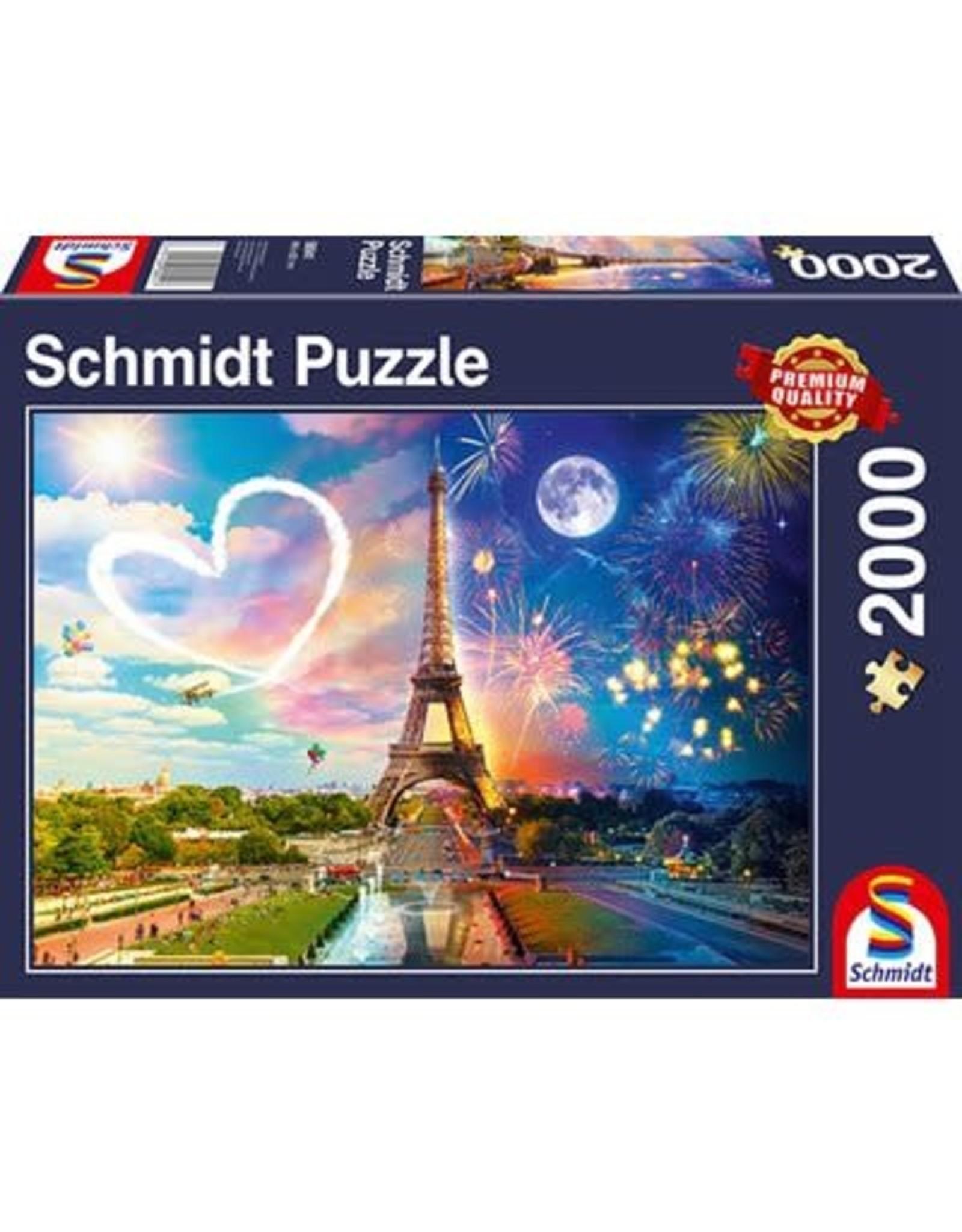 Schmidt Schmidt Puzzle: Paris, Day and Night 2000 Pieces