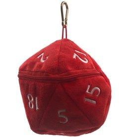 Ultra Pro Dice Bag Red D20 Plush