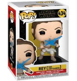 Funko Pop Funko POP! Star Wars Rey w/ 2 Light Sabres 434