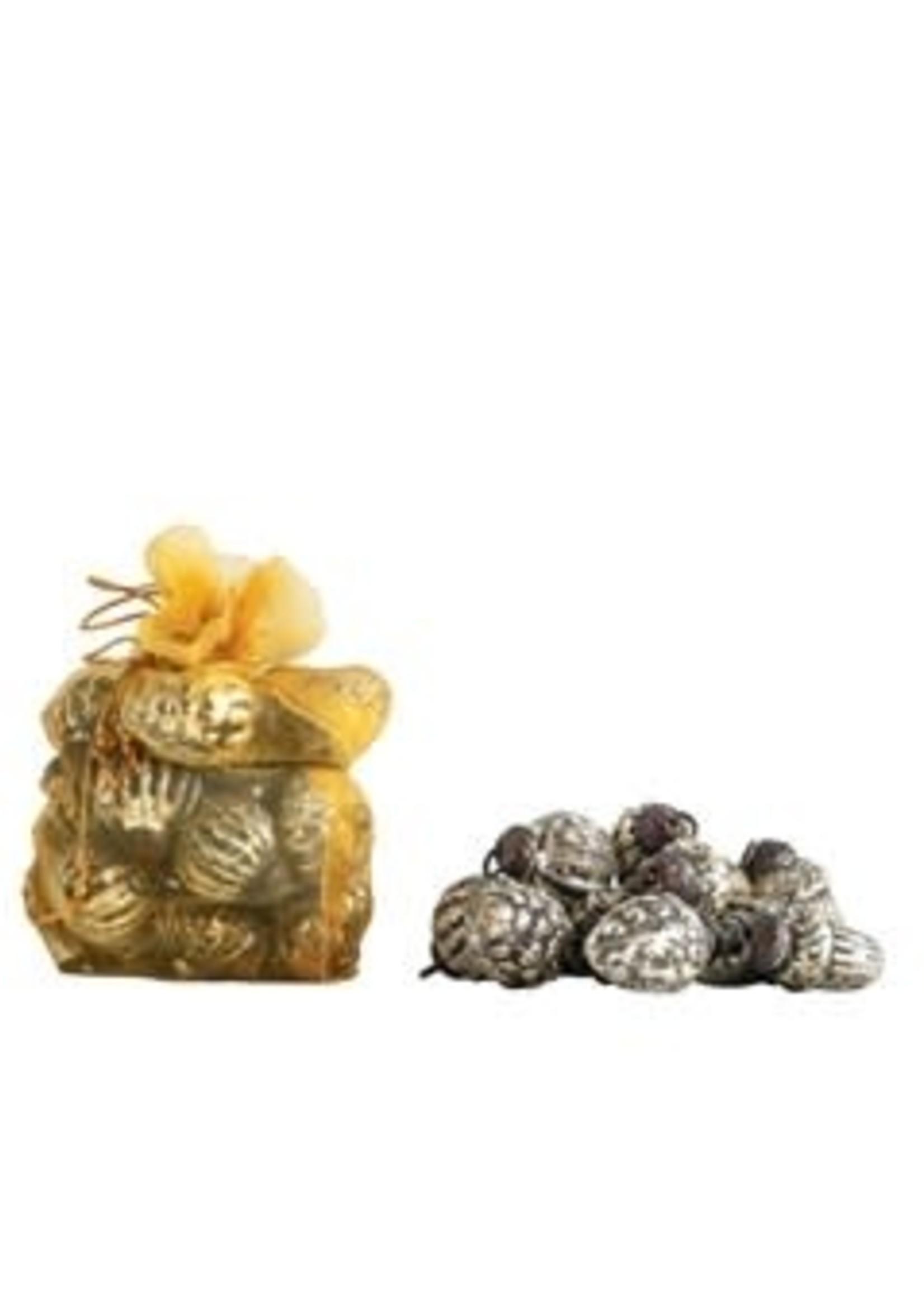 Mercury Glass Ornaments, Silver, S/36