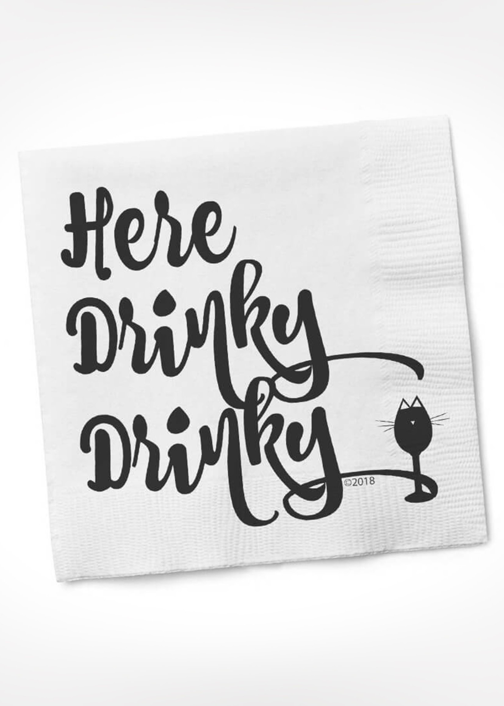 Here Drinky Drinky COCKTAIL NAPKIN
