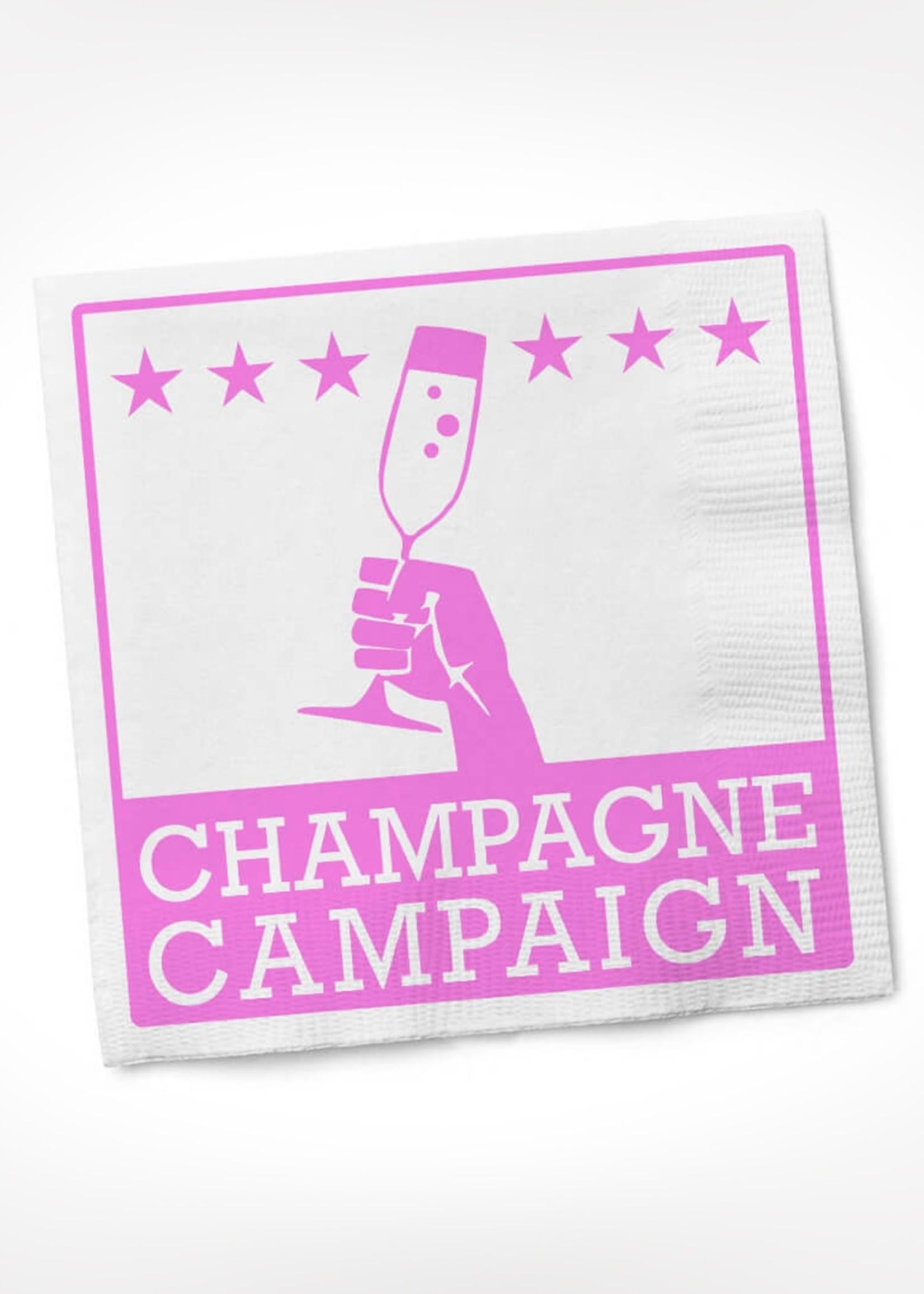 Champagne Campaign COCKTAIL NAPKIN