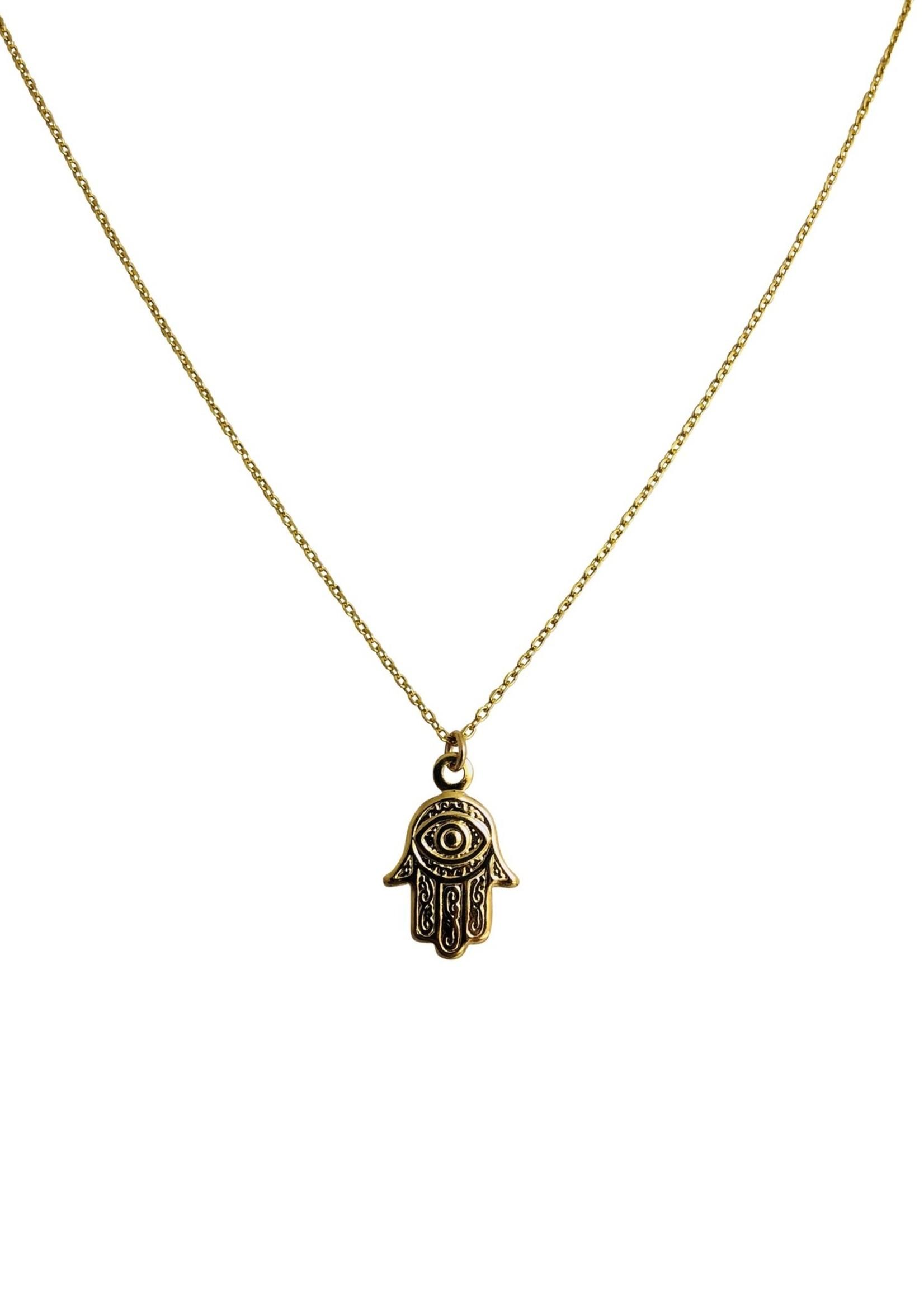 Goldfilled Hamsa necklace NK20161