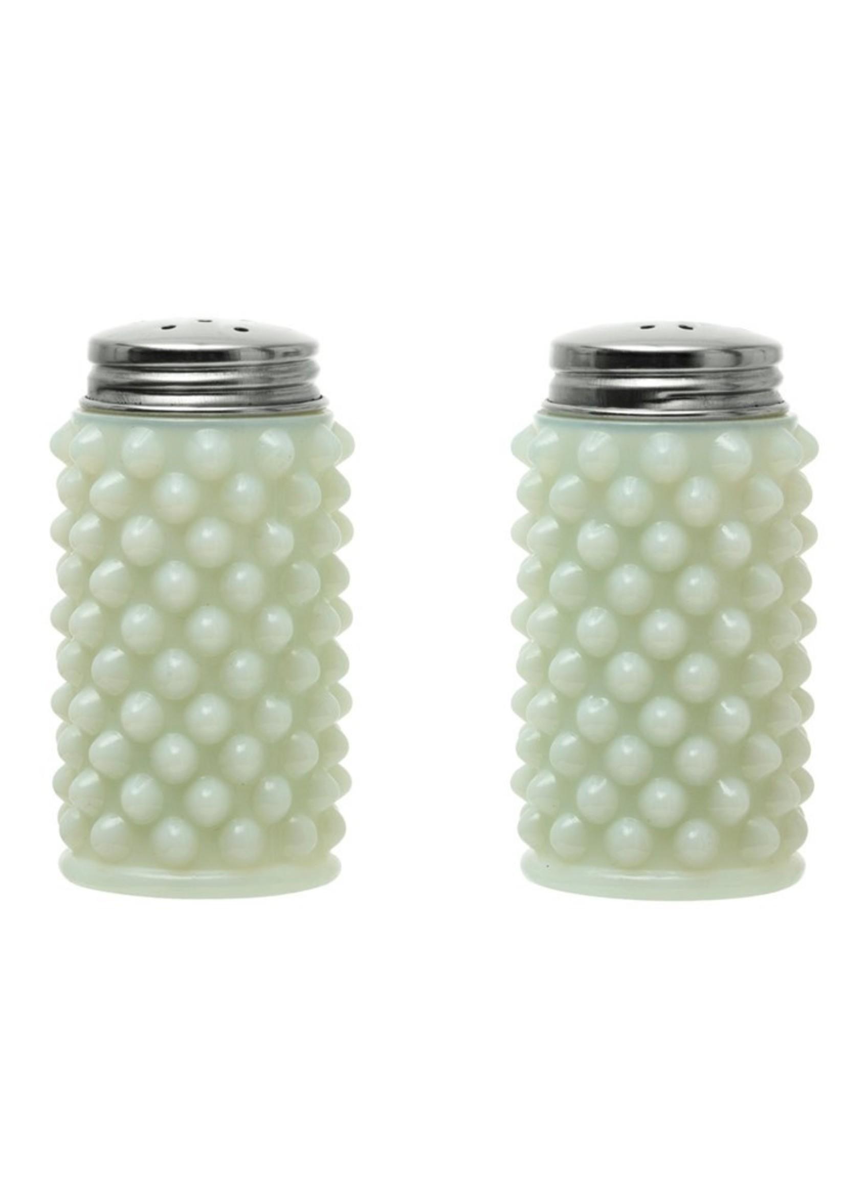 Glass S&P Shakers, White Milk Glass