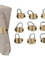 Hammered Brass & Suede Napkin Ring