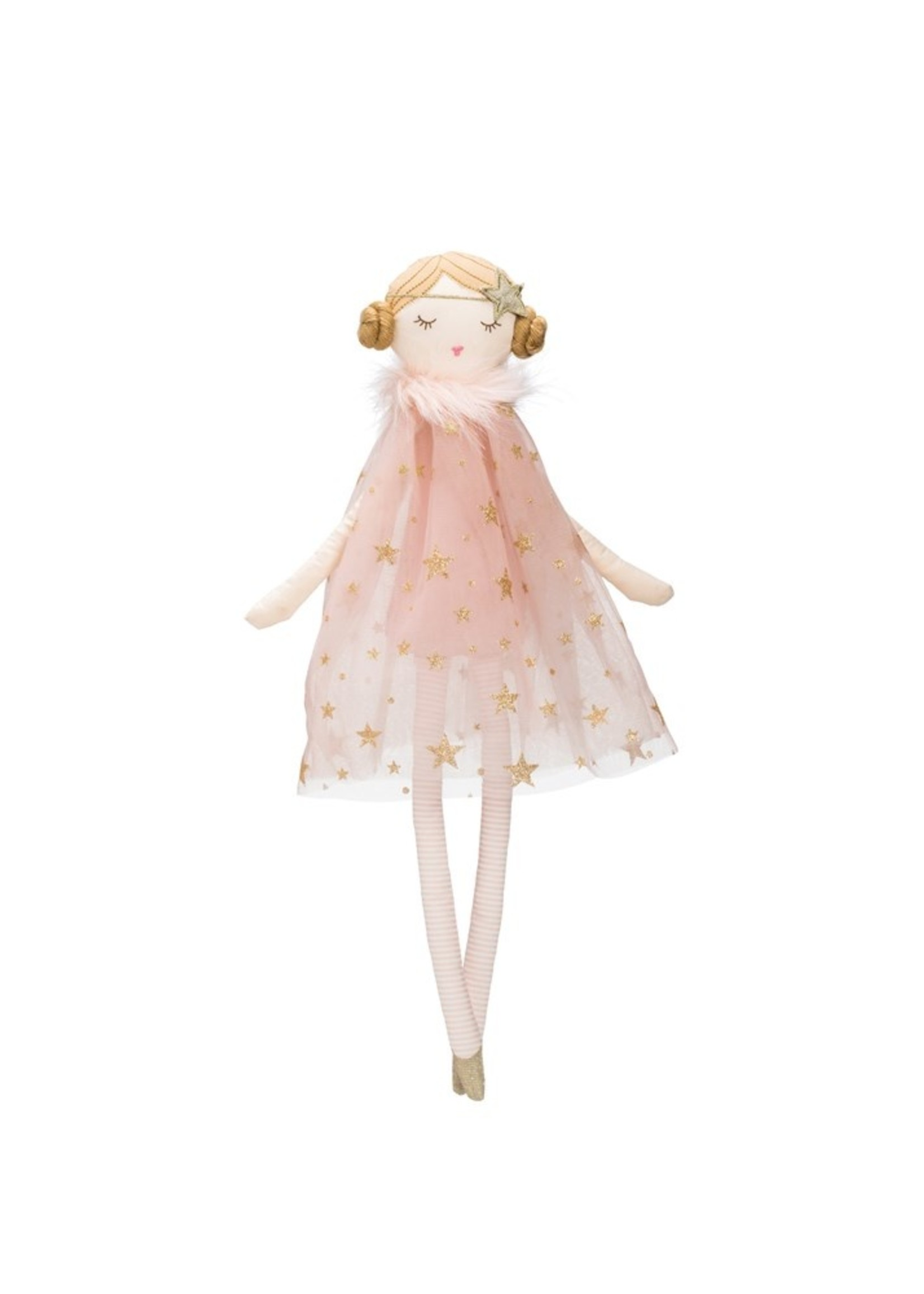 Cotton Doll w/ Star Dress, Pink